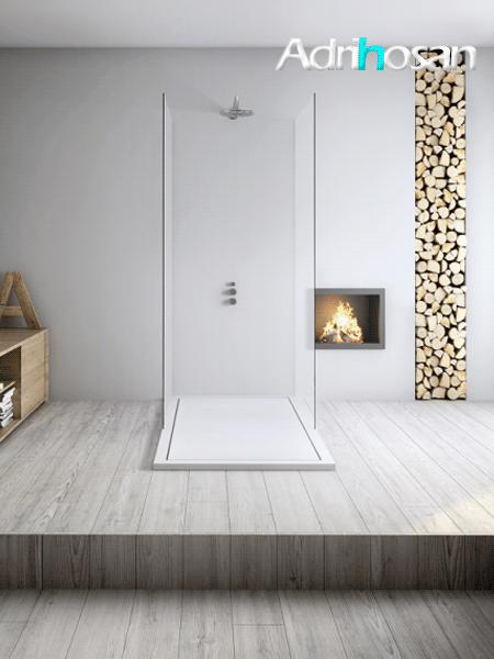 Plato de ducha pizarra resinas minerales Gel Coat Infinity 160 x 100 x 3 cm
