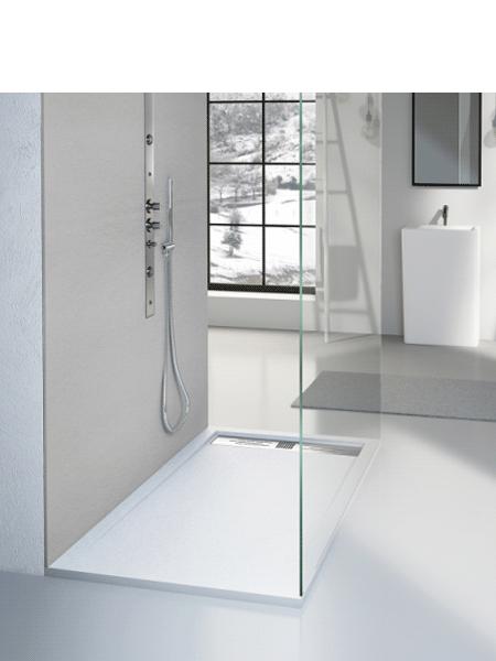 Plato de ducha carga mineral Stone 250 x 100 x 3 cm altura