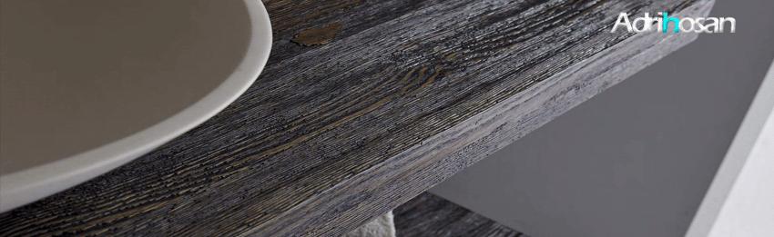 Encimeras de baño de madera natural de nogal