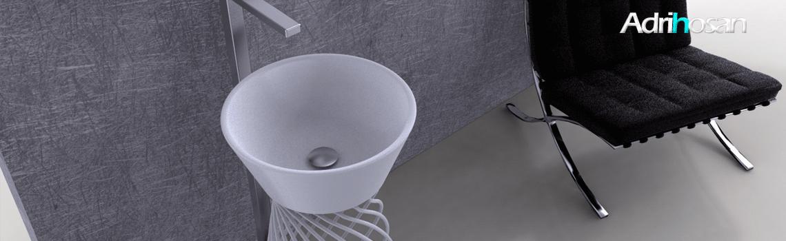 Lavabos sobre encimera solid surface, cerámica o porcelana. | Adrihosan