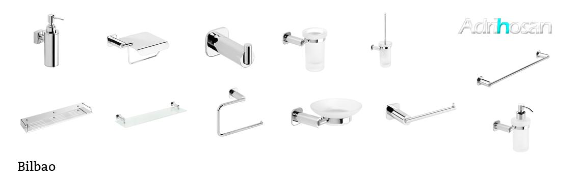 serie Bilbao- Accesorio de baño. Accesorio de baño fabricado en latón de primera calidad acabado cromo.