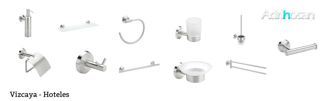 serie Vizcaya - Accesorio de baño. Accesorio de baño fabricado en latón de primera calidad acabado cromo.