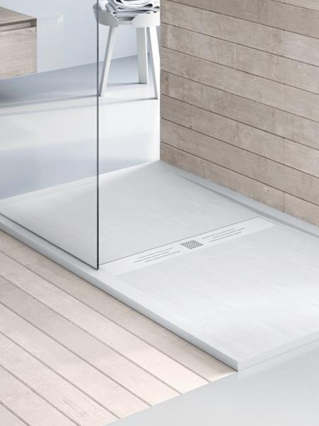 Plato de ducha textura madera carga mineral Wood 200 x 80 x 3 cm