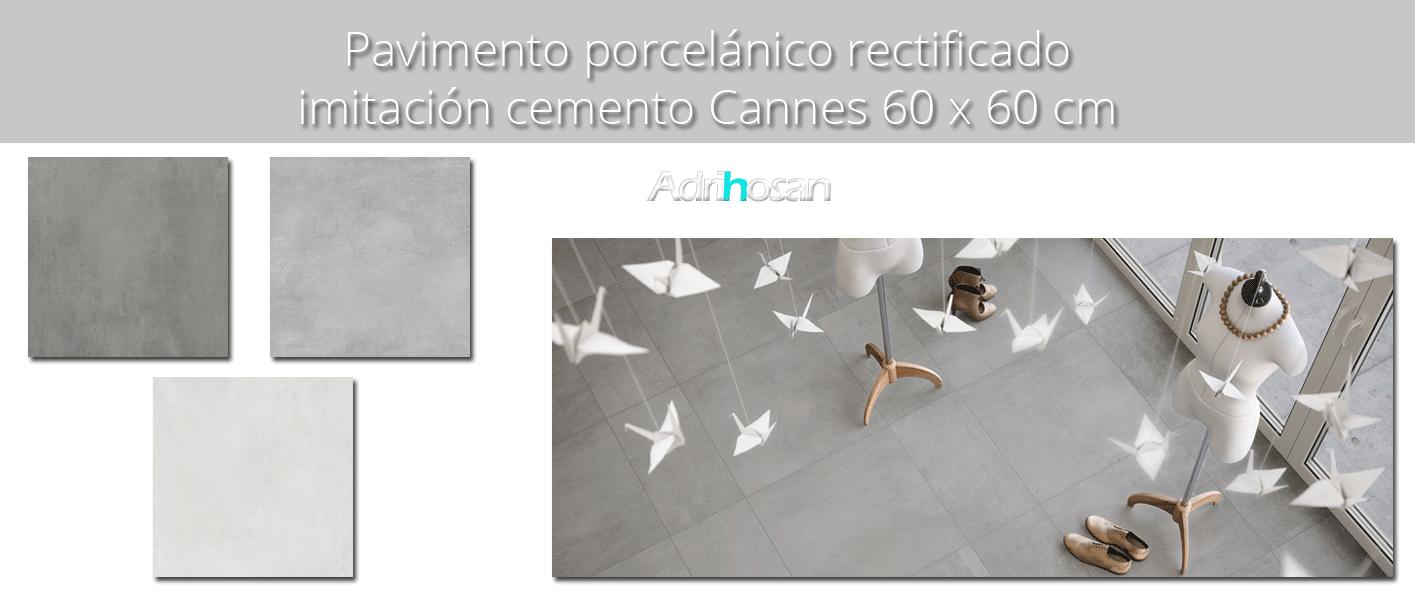 Pavimento porcelánico rectificado Cannes 60x60 cm
