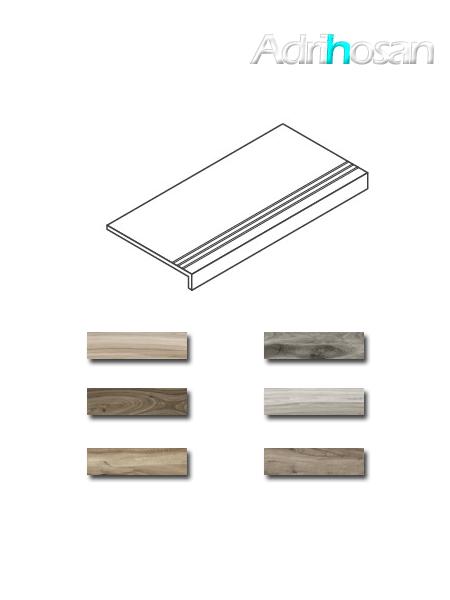 Peldaño técnico porcelánico Sonora 22x84 ó 22x60 cm imitación madera