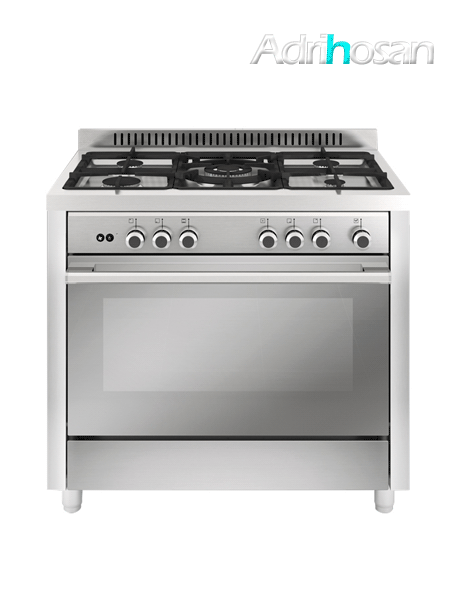 Cocina de gas Matrix Inox 5 Fuegos 90x60 cm MX96I Gas butano o natural Vitrokitchen