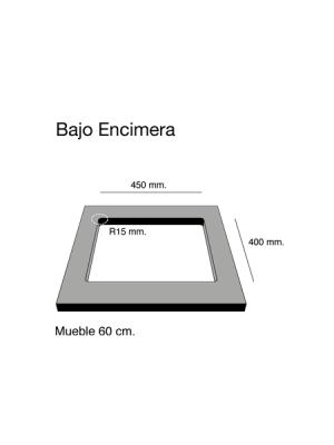 Fregadero de fibra Zie 45 brillo bajo encimera Poalgi