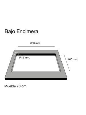 Fregadero de fibra Zie 60 brillo bajo encimera Poalgi