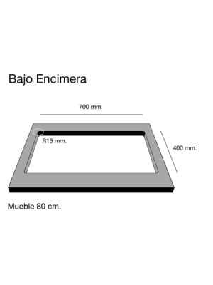 Fregadero de fibra Zie 70 2 cubetas bajo encimera Poalgi | Adrihosan