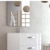 Mueble de baño suspendido 2 cajones Neos (mueble + lavabo + espejo)