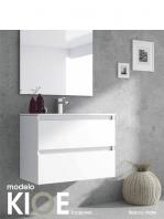 Mueble de baño suspendido 2 cajones Kloe (mueble + lavabo + espejo)
