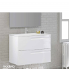 Mueble de baño suspendido 2 cajones Zeus (mueble + lavabo + espejo)