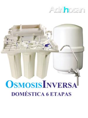 Osmosis Inversa Aqua seis etapas. Agua pura en tu cocina