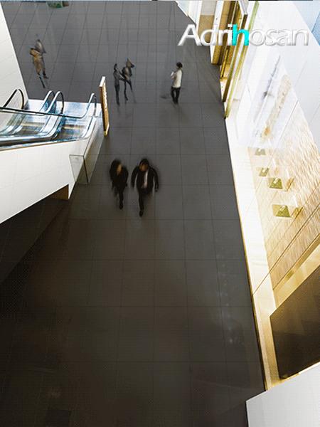 Pavimento porcelánico rectificado técnico negro 60x120 cm (1,44 m2/cj)