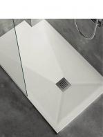 Plato de ducha carga mineral akytran extraplano textura lisa