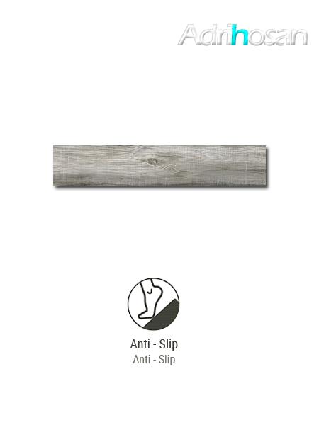 Porcelánico antideslizante  imitación madera Bosco grey 23.3x120 cm(1.12 m2/cj)