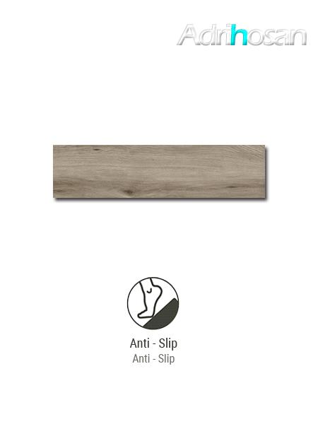 Porcelánico imitación madera antideslizante Sherwood Nut 22,5x90 cm(1.22 m2/cj)