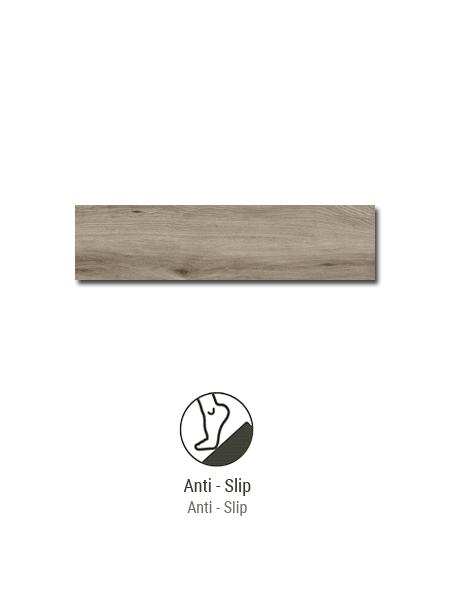 Porcelánico imitación madera antideslizante Sherwood nut 22,5x90 cm