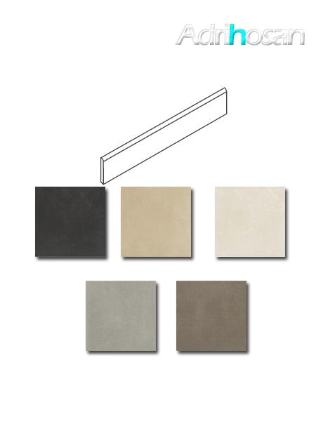 Rodapié porcelánico Space 7x60 cm imitación cemento