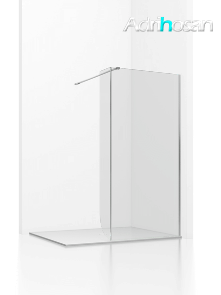 Fijo de ducha + lateral 20 cm Irimi transparente de 6 mm de 80 a 120 cm con antical
