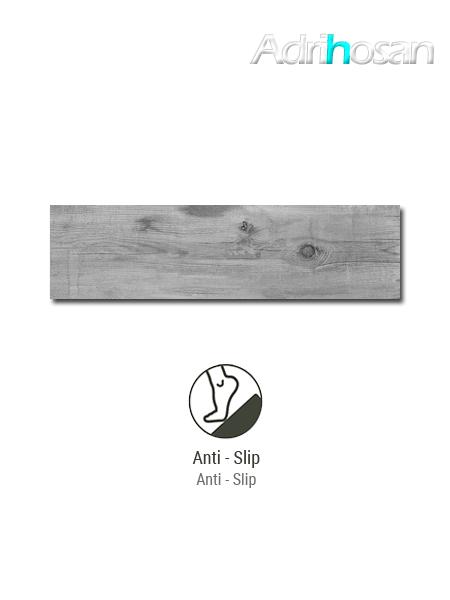 Pavimento antideslizante porcelánico Norway grey 22x84 cm imitación madera (0,74 m2/cj)