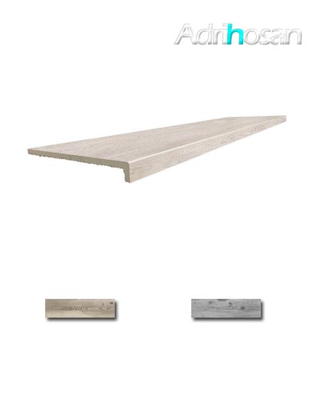 Peldaño técnico porcelánico Norway 33x120 cm imitación madera