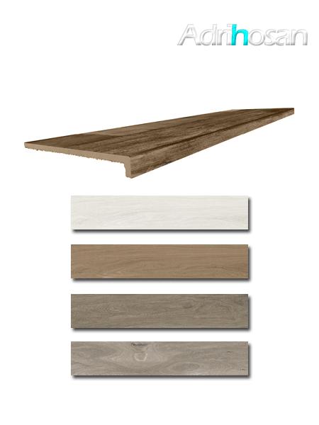 Peldaño técnico madera porcelánica Kenia 33x120 cm imitación madera