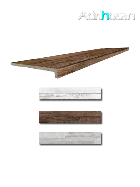 Peldaño técnico madera porcelánica Artwood 33x120 cm imitación madera