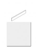 Rodapié blanco total 8x60 cm brillo o mate corte normal o rectificado