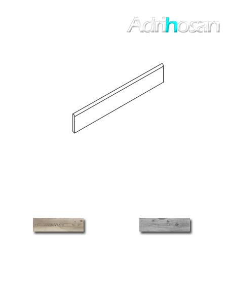 Rodapié porcelánico Norway 7x84 cm corte recto imitación madera
