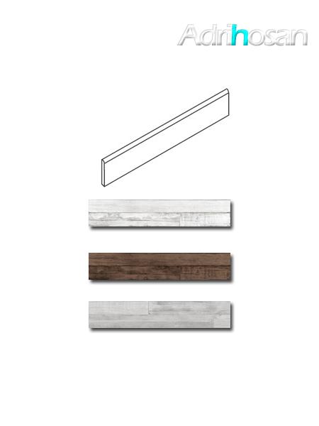 Rodapié madera porcelánica Artwood 7.5x60 cm imitación madera