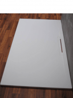 Plato de ducha Solid Surface Hydra frontal blanco Antideslizante C3