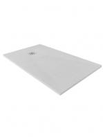 Plato de ducha de resina mineral blanco pizarra Gel Coat Zero | Adrihosan