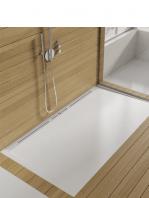 Plato de ducha resina textura lisa Style 120x70 cm desagüe perimetral Adrihosan