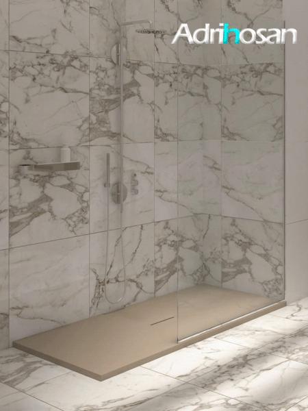 Plato de ducha textura pizarra resinas minerales Urban 200x100 cm