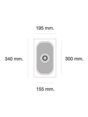 Fregadero de fibra Gandía 161 brillo bajo o sobre encimera Poalgi