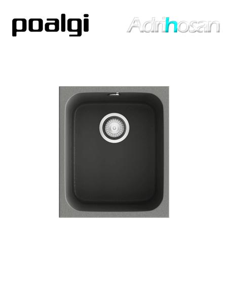 Fregadero de fibra Gandía 35 brillo bajo o sobre encimera Poalgi
