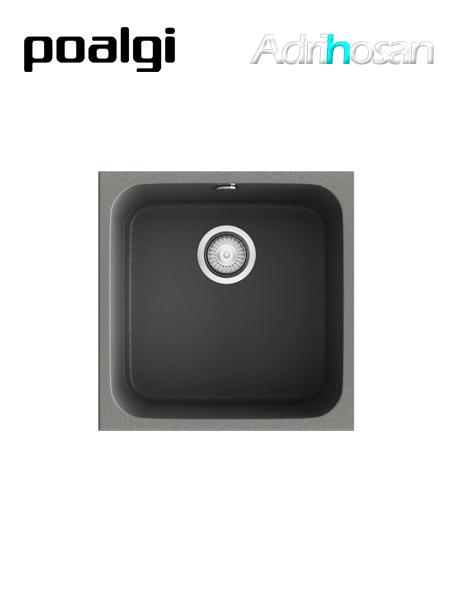 Fregadero de fibra Gandía 40 brillo bajo o sobre encimera Poalgi