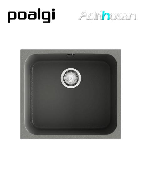 Fregadero de fibra Gandía 50 brillo bajo o sobre encimera Poalgi