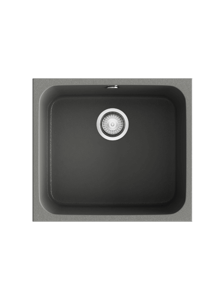 Fregadero de fibra Gandía 50 brillo bajo o sobre encimera Poalgi Adrihosan
