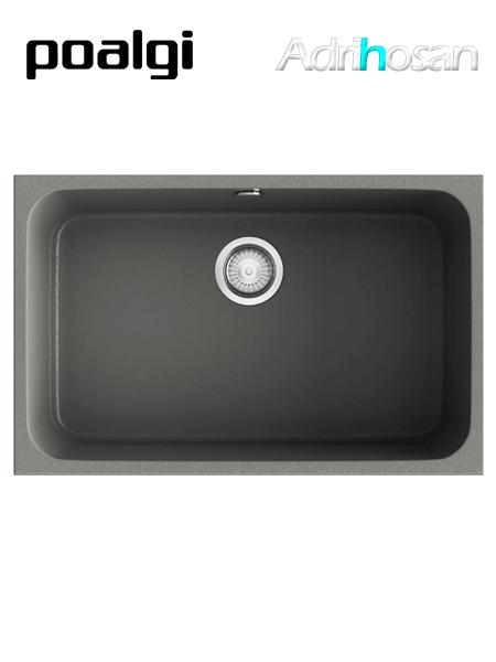 Fregadero de fibra Gandía 165 70 brillo bajo o sobre encimera Poalgi