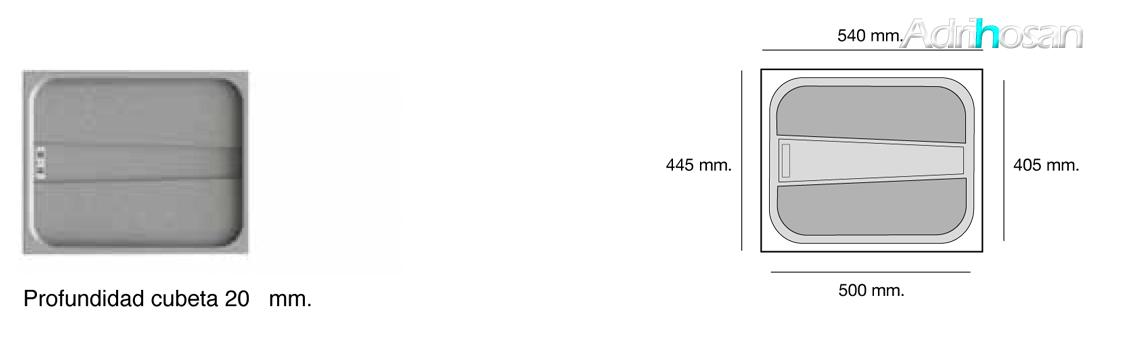 Fregadero de fibra Gandía escurridor bajo o sobre encimera Poalgi Adrihosan