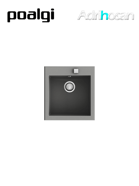 Fregadero de fibra Shira 501 brillo bajo o sobre encimera Poalgi