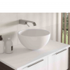 Lavabo Solid Surface tipo bol Fruit D36x19 cm blanco | Adrihosan