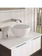 Lavabo Solid Surface tipo bol Fruit D36x19 cm blanco | Adrihosan