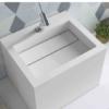Lavabo Solid Surface Cuadrado Compac 40x34x30 cm blanco