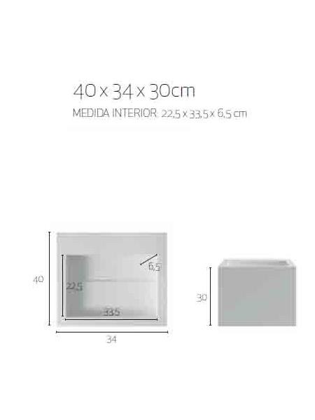 Lavabo Compac.Lavabo Solid Surface Cuadrado Compac 40x34x30 Cm Blanco