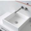 Lavabo Solid Surface Cuadrado Quadro 40x40x11.5 blanco | Adrihosan