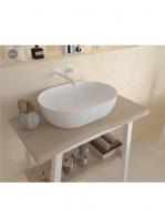 Lavabo Solid Surface ovalado Mónaco 475 x 340 x 150 cm blanco | Adrihosan