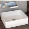 Lavabo Solid Surface rectangular Essenza 368 x 368 x 127 cm blanco | Adrihosan